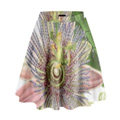 Passion Flower Flower Plant Blossom High Waist Skirt