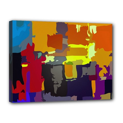 Abstract Vibrant Colour Canvas 16  X 12
