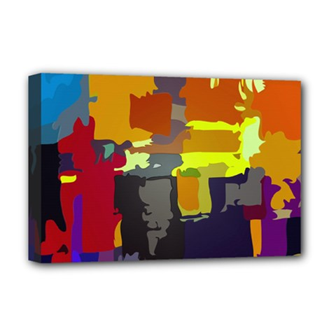 Abstract Vibrant Colour Deluxe Canvas 18  X 12