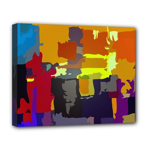 Abstract Vibrant Colour Deluxe Canvas 20  X 16