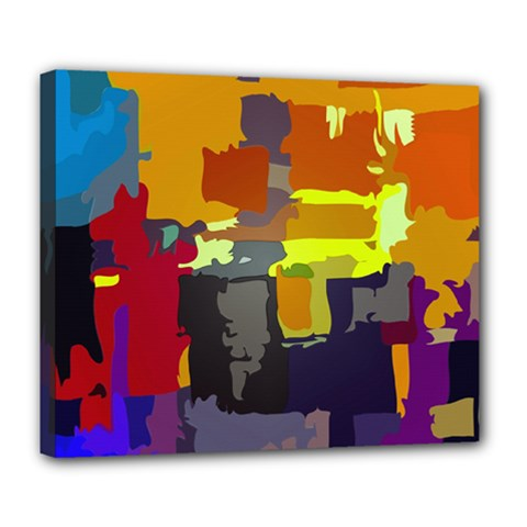 Abstract Vibrant Colour Deluxe Canvas 24  X 20
