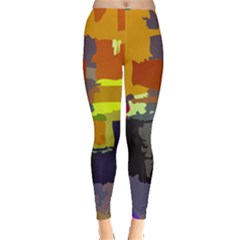 Abstract Vibrant Colour Leggings