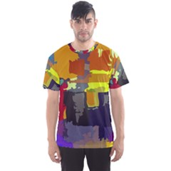 Abstract Vibrant Colour Men s Sport Mesh Tee