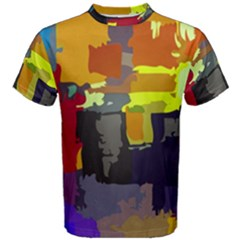 Abstract Vibrant Colour Men s Cotton Tee