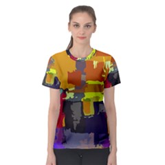 Abstract Vibrant Colour Women s Sport Mesh Tee