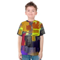 Abstract Vibrant Colour Kids  Cotton Tee