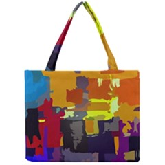 Abstract Vibrant Colour Mini Tote Bag