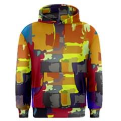 Abstract Vibrant Colour Men s Pullover Hoodie