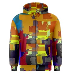 Abstract Vibrant Colour Men s Zipper Hoodie