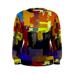 Abstract Vibrant Colour Women s Sweatshirt