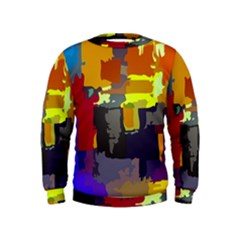 Abstract Vibrant Colour Kids  Sweatshirt