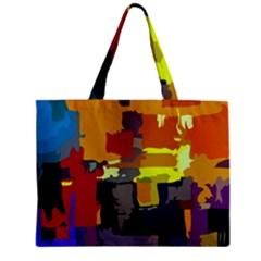 Abstract Vibrant Colour Zipper Mini Tote Bag