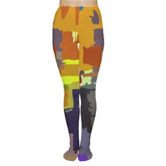 Abstract Vibrant Colour Women s Tights