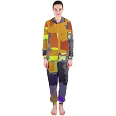 Abstract Vibrant Colour Hooded Jumpsuit (ladies)
