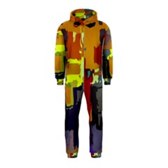 Abstract Vibrant Colour Hooded Jumpsuit (Kids)