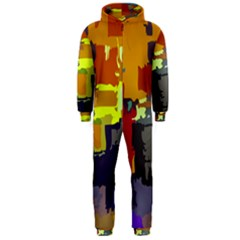 Abstract Vibrant Colour Hooded Jumpsuit (Men)