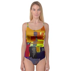 Abstract Vibrant Colour Camisole Leotard