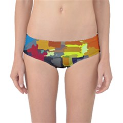 Abstract Vibrant Colour Classic Bikini Bottoms