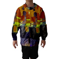 Abstract Vibrant Colour Hooded Wind Breaker (Kids)