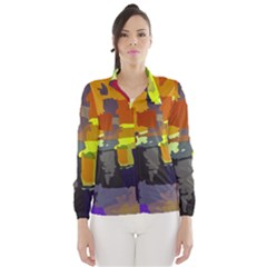 Abstract Vibrant Colour Wind Breaker (women)