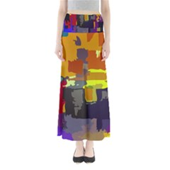 Abstract Vibrant Colour Maxi Skirts