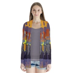 Abstract Vibrant Colour Cardigans