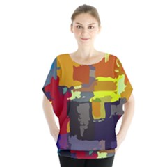 Abstract Vibrant Colour Blouse