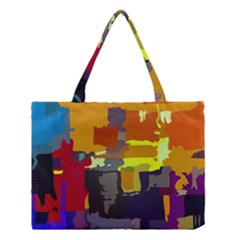 Abstract Vibrant Colour Medium Tote Bag