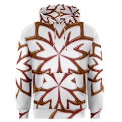 Abstract Shape Outline Floral Gold Men s Pullover Hoodie