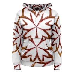 Abstract Shape Outline Floral Gold Women s Pullover Hoodie
