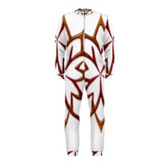 Abstract Shape Outline Floral Gold Onepiece Jumpsuit (kids)