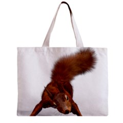 Squirrel Wild Animal Animal World Zipper Mini Tote Bag