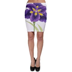 Lily Flower Plant Blossom Bloom Bodycon Skirt