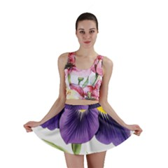 Lily Flower Plant Blossom Bloom Mini Skirt