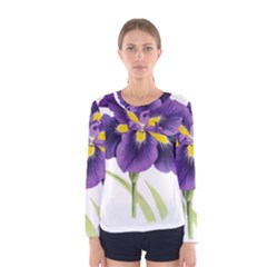 Lily Flower Plant Blossom Bloom Women s Long Sleeve Tee