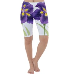 Lily Flower Plant Blossom Bloom Cropped Leggings