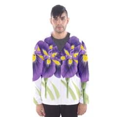 Lily Flower Plant Blossom Bloom Hooded Wind Breaker (Men)