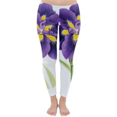 Lily Flower Plant Blossom Bloom Classic Winter Leggings