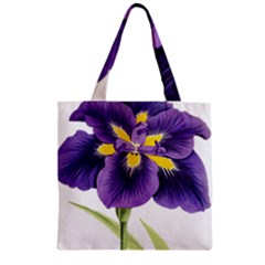 Lily Flower Plant Blossom Bloom Zipper Grocery Tote Bag