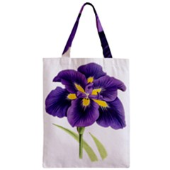 Lily Flower Plant Blossom Bloom Zipper Classic Tote Bag