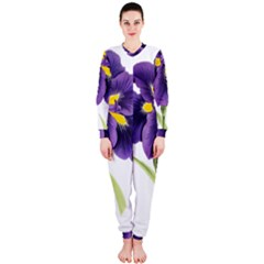 Lily Flower Plant Blossom Bloom Onepiece Jumpsuit (ladies)