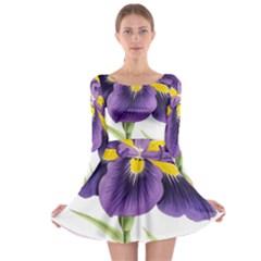 Lily Flower Plant Blossom Bloom Long Sleeve Skater Dress