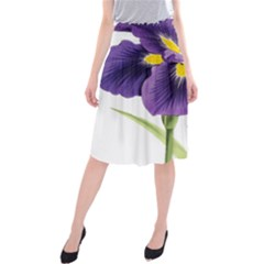 Lily Flower Plant Blossom Bloom Midi Beach Skirt