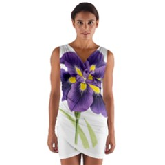 Lily Flower Plant Blossom Bloom Wrap Front Bodycon Dress