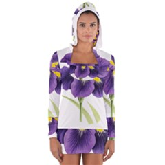 Lily Flower Plant Blossom Bloom Women s Long Sleeve Hooded T-shirt
