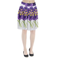 Lily Flower Plant Blossom Bloom Pleated Skirt