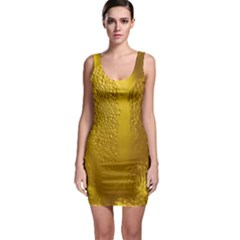 Beer Beverage Glass Yellow Cup Sleeveless Bodycon Dress