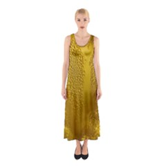 Beer Beverage Glass Yellow Cup Sleeveless Maxi Dress
