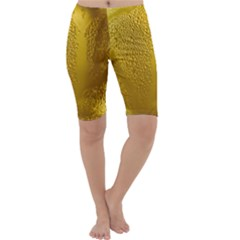 Beer Beverage Glass Yellow Cup Cropped Leggings