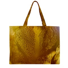 Beer Beverage Glass Yellow Cup Zipper Mini Tote Bag